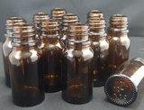 lege flesjes 10ml glas amber