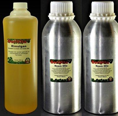 Neemolie 100% Puur 2 liter en Rimulgan Emulgator 1 liter - Set
