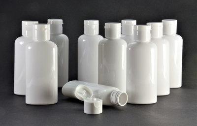 Fles 100ml en Klepdop 10 stuk - Navulbaar, Lege Plastic Flesjes 100ml