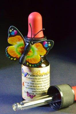 Palmarosa Olie 100% 10ml Pipetfles - Etherische Olie Butterfly