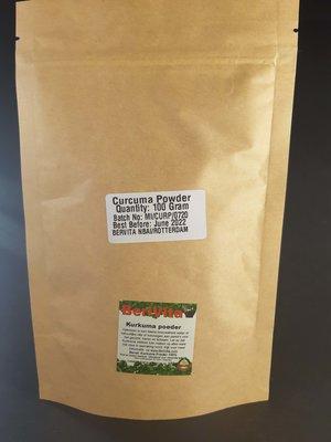 Kurkuma Poeder 100% Zuiver 100gr - Geelwortel - Turmeric Powder