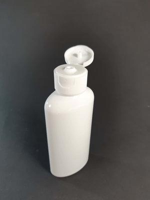 Fles 100ml en Klepdop 1 stuk - Navulbaar, Leeg Plastic Flesje 100ml
