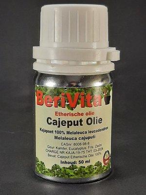 Cajeput Olie 100% 50ml - Etherische Cajeputolie, Kajapoet Olie