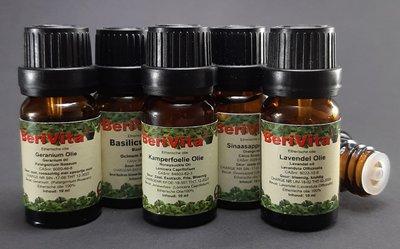 Ontspannende Olie 5x10ml Etherische Olie Set - Lavendelolie 10ml, Geraniumolie 10ml, Kamperfoelie olie 10ml, Sinaasappelolie 10ml en Basilicumolie 10ml - Essentiële Olie Set