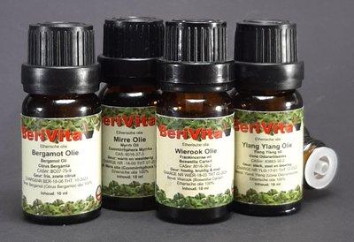 Meditatie Olie 4x10ml Etherische Olie Set - Wierookolie 10ml, Ylang Ylang Olie 10ml, Mirre Olie 10ml en Bergamotolie 10ml - Essentiële Olie Set