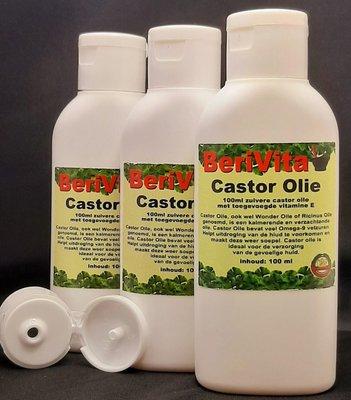 Castor Olie Puur 3x100ml flacon - Wonderolie, Ricinusolie