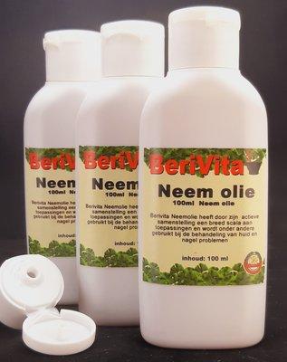 Neemolie 100% Puur 3x100ml fles - Neem Olie voor Mens, Dier en Plant