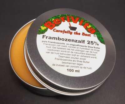 Frambozen Zalf 100ml Blik - Frambozenolie met Shea Butter