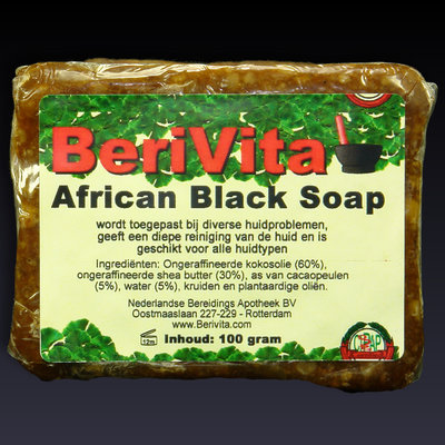 African Black Soap - Zwarte Zeep | 100 gr