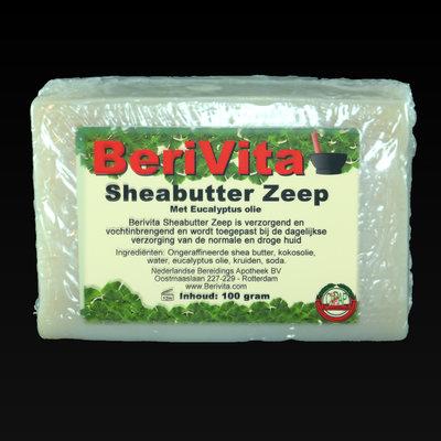 Shea Butter + Pure Eucalyptus Olie Zeeptablet 100gr
