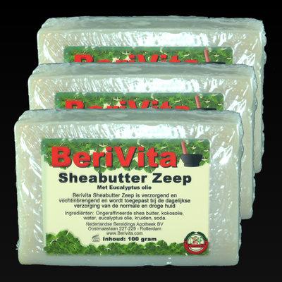 Shea Butter + Pure Eucalyptus Olie Zeep | 3x100gr