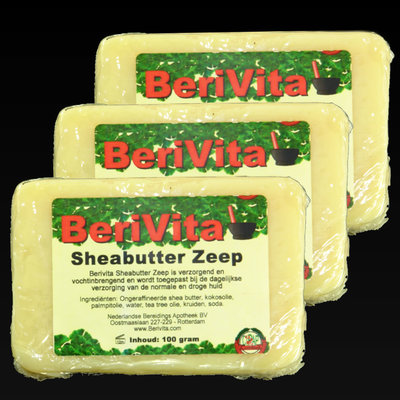 Shea Butter + Pure Tea Tree Olie Zeep | 3x100gr