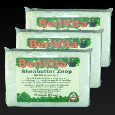 Shea Butter + Havermout & Aloë Vera Zeep | 3x100gr