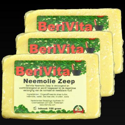 Neemolie met Shea Butter Natuurlijke Zeep - 3x100gr
