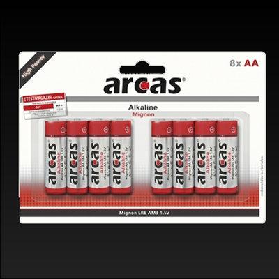 Batterij AA ARCAS 8 stuks