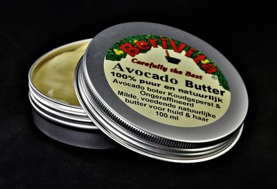 Avocado Butter Puur 100ml | Blik