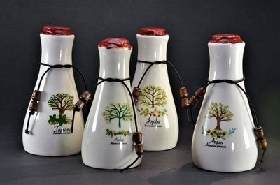 Pakket 4x Karaffen Natuurlijke Olie Keramiek