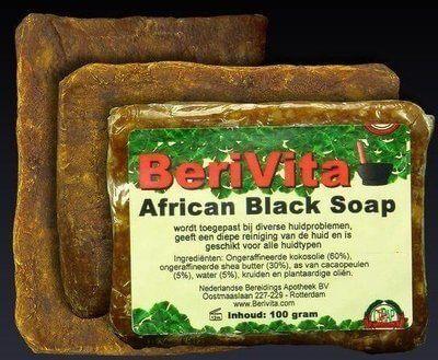 African Black Soap - Zwarte Zeep | 3x100gr
