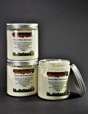 Kaolien, Witte Klei Poeder 100% Zuiver 3x 200gr - Pot